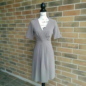 J Crew Faux Wrap Pleated Dress